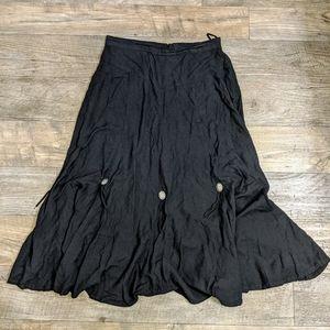 Vintage Southwest Canyon Western Maxi Skirt